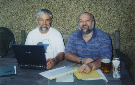 Peter Murray-Rust and Henry Rzepa hard at work